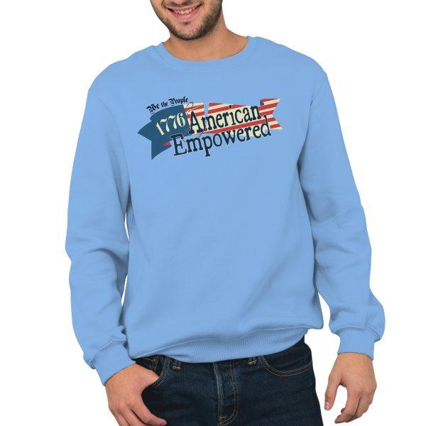 1776 American Empowered Carolina Blue crewneck sweatshirt