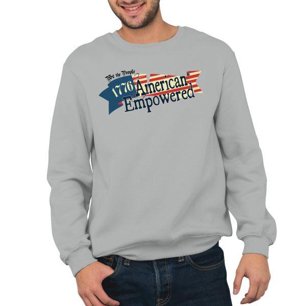 1776 American Empowered Silver Grey crewneck sweatshirt