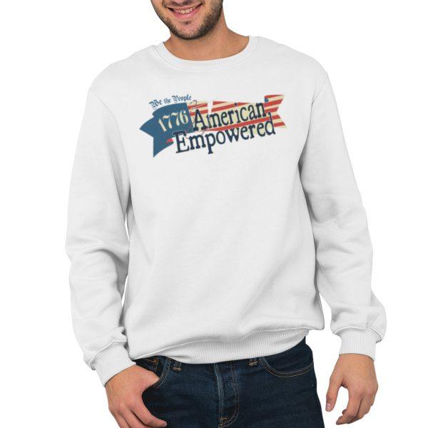 1776 American Empowered White crewneck sweatshirt