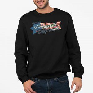 1776 American Empowered Black crewneck sweatshirt
